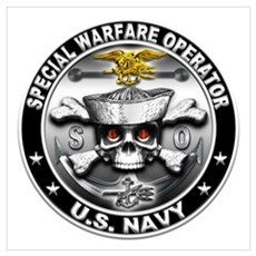 USN Special Warfare Operator Wall Art Canvas Art
